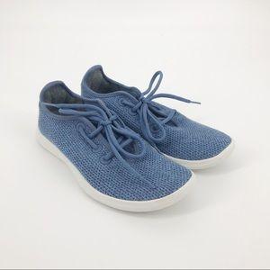 Allbirds Men's Wool Runners Blue & White LIKE NEW